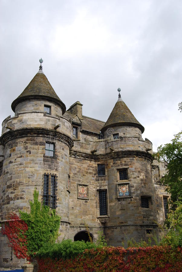 Falkland Palace. A view of the exterior of Falkland Palace in Scotland royalty free stock photos