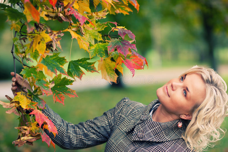 Download Fall stock photo. Image of expresion, coat, people, park - 12664462