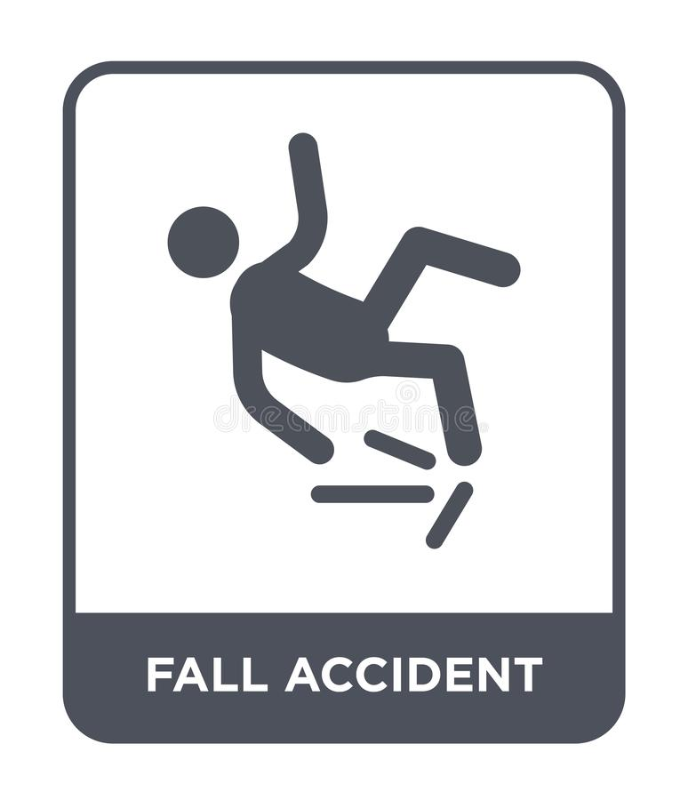 Fall accident icon in trendy design style. fall accident icon isolated on white background. fall accident vector icon simple and. Modern flat symbol for web vector illustration