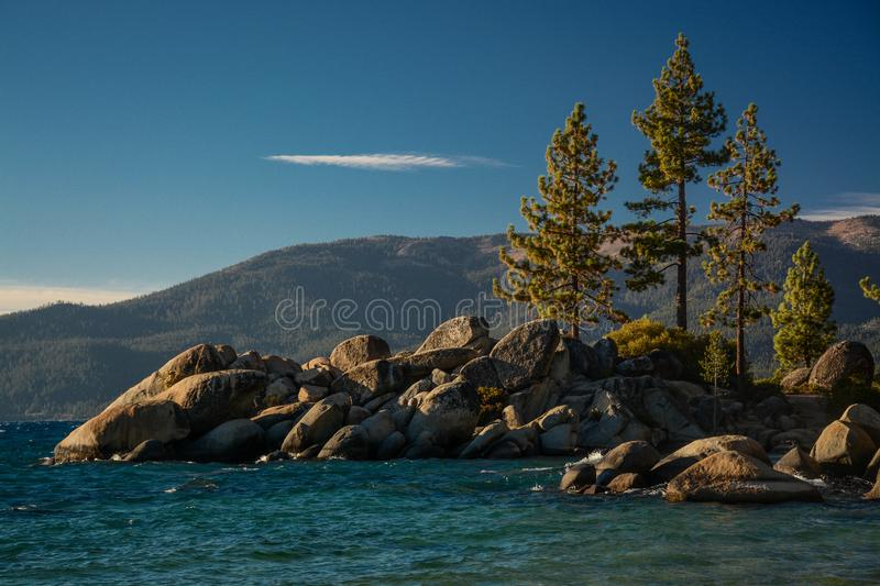 A Fall Afternoon in Sand Harbor royalty free stock photography