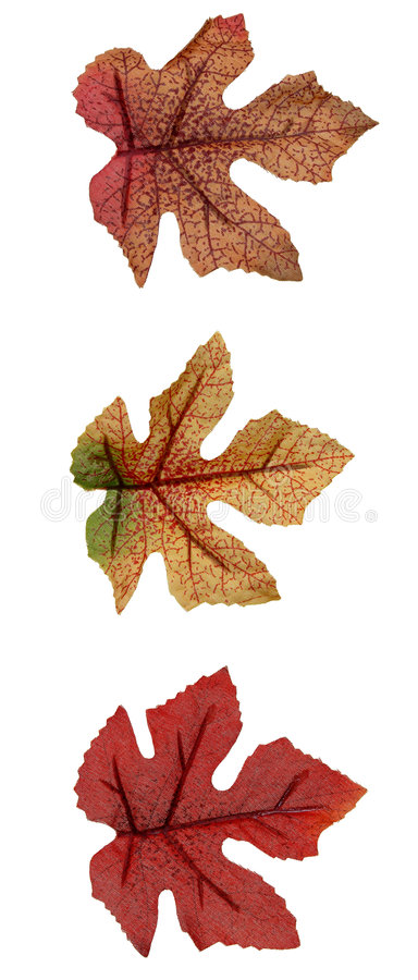 Fall: Artificial Leaves royalty free stock photos