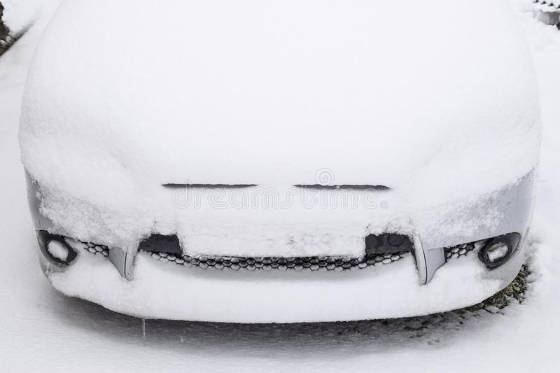 The Car Filled Up By Snow In The Winter Stock Photo - Image of