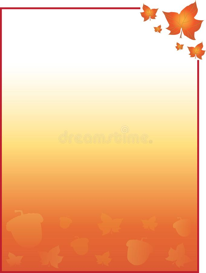 Fall and Autumn Leaves and Acorns Background for Cards, Flyers, Poster, and More. Fall and Autumn Leaves and Acorns Banner Colorful Background Template for cards vector illustration