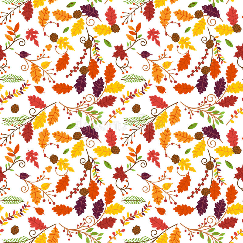 Fall, Autumn Or Thanksgiving Vector Flower Pattern Stock ...
