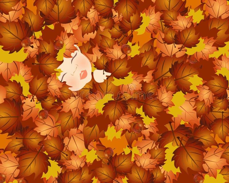 Fall Baby Stock Image
