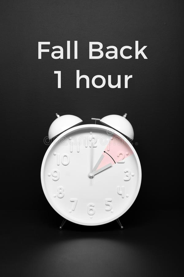Fall back concept Autumn Time change royalty free stock image