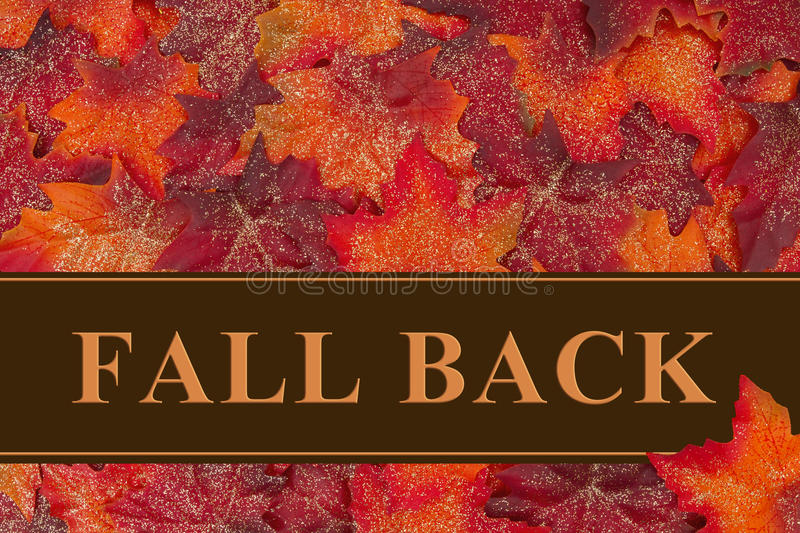 Fall Back message stock image