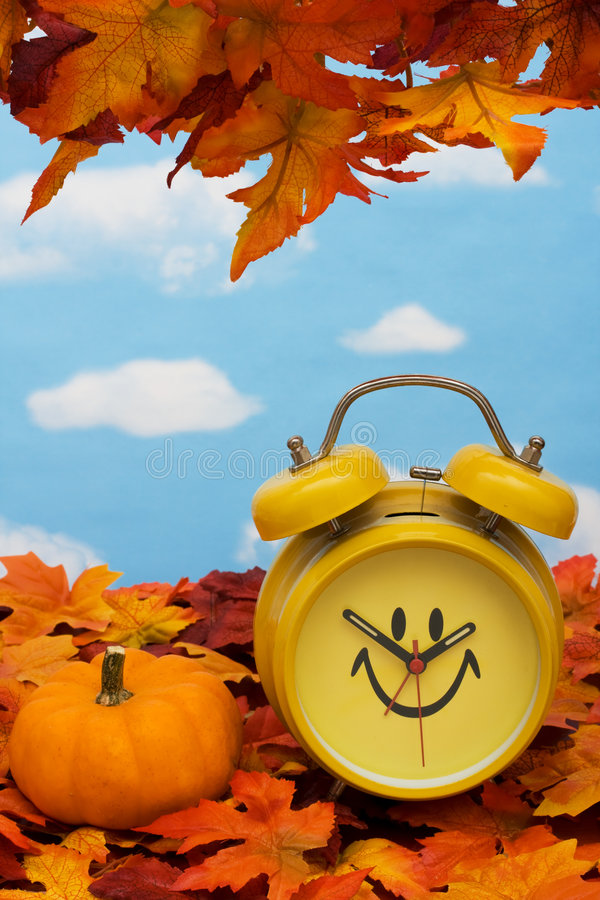 Download Fall Back Time Change stock image. Image of frame, pumpkin - 6615285