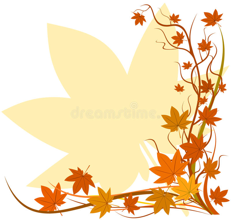 Fall background royalty free illustration