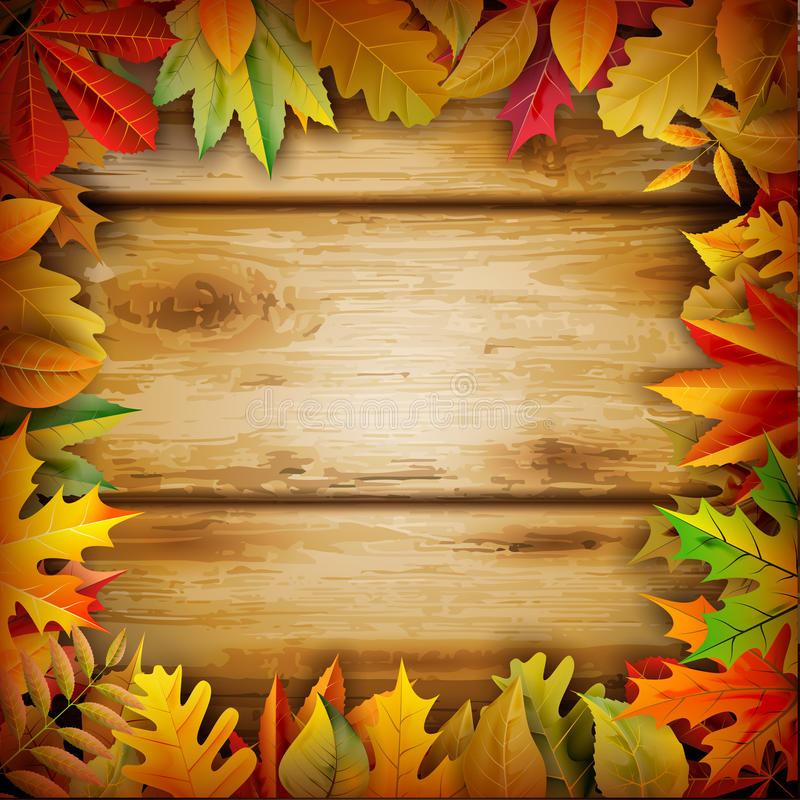 Fall background. For your design royalty free illustration