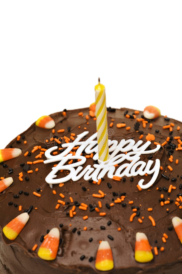 Fall Birthday Cake stock photo Image of sprinkles candle 3431028