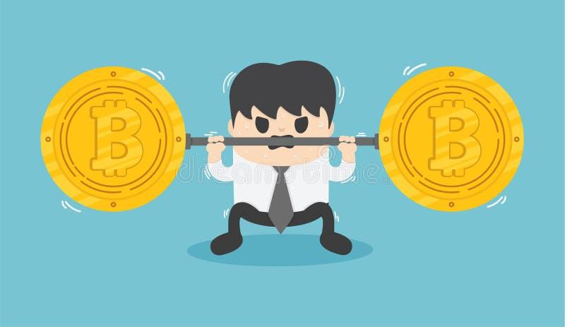 The fall of bitcoin vector illustration