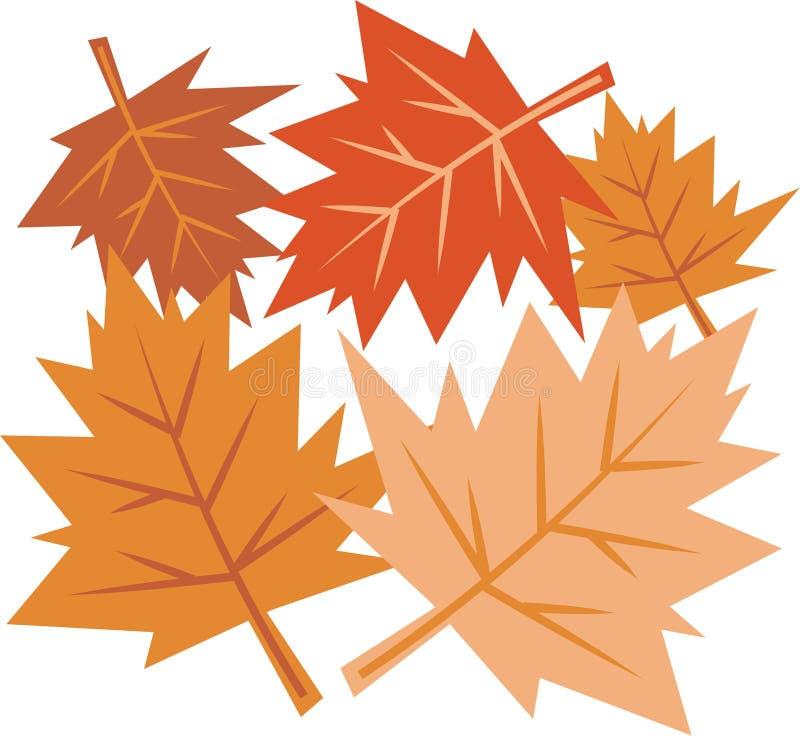 Download Fall-Blätter vektor abbildung. Illustration von gärten, blätter - 46644