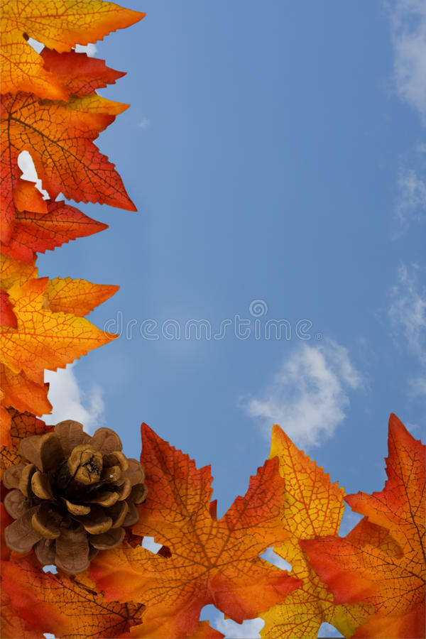 Download Fall Border stock photo. Image of copy, clouds, symbol - 10900082