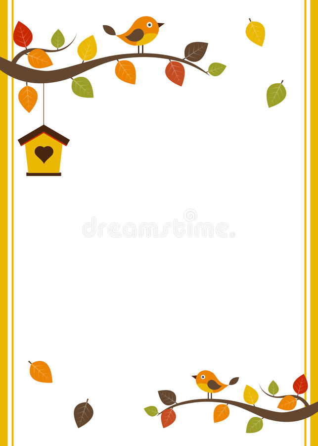 Fall card template stock illustration