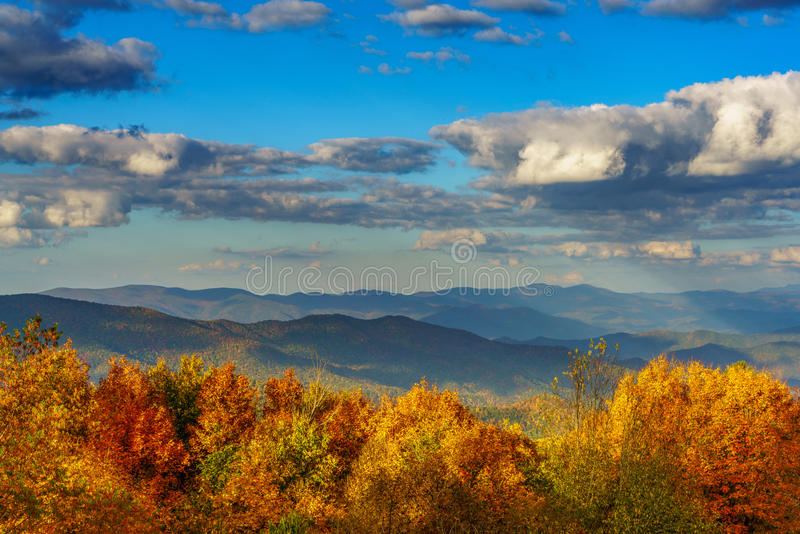 Fall on the Cherohala Skyway stock image