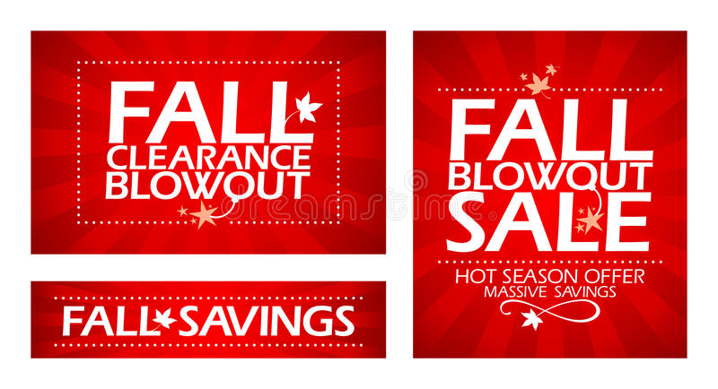 Fall clearance sale. stock illustration