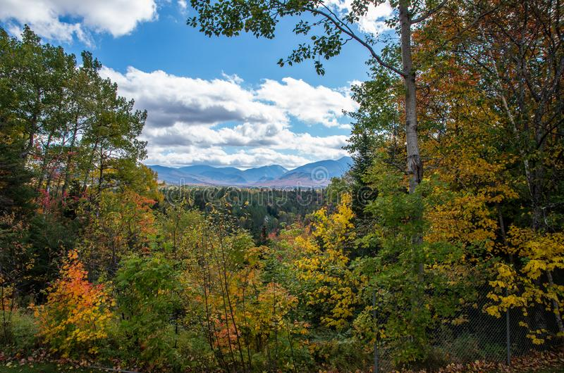 Fall color in Lake Placid NY. Fall color in the Adirondack Mountains around Lake Placid NY stock photography