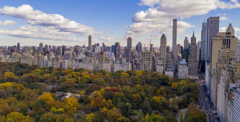 Fall Color Autumn Season Edifícios da 5ª Avenida NYC imagem de stock royalty free