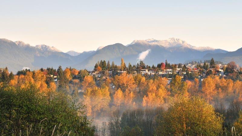 Fall color at Deer Lake Park stock images