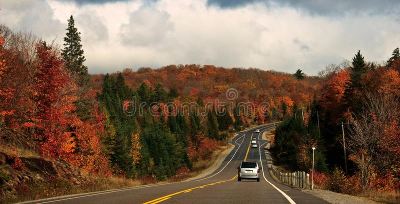 Fall Color Drive Road stock photo