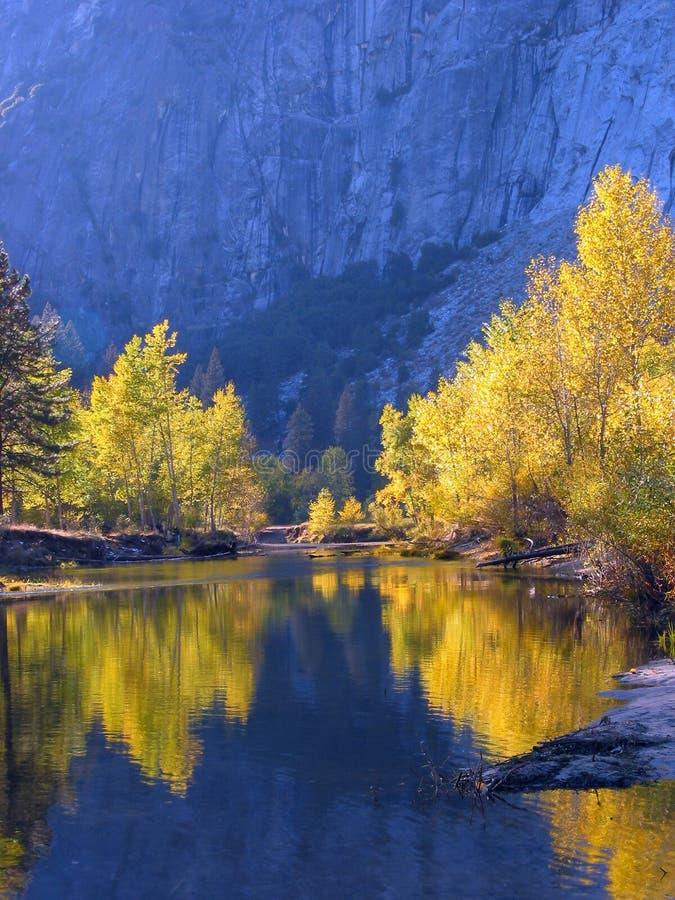 Fall Color reflection stock photos