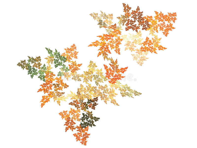Fall Colors. Computer Fractal looking like leaves with fall colors stock illustration