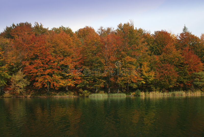 Download Fall colors stock image. Image of landscape, autumn, lake - 291591