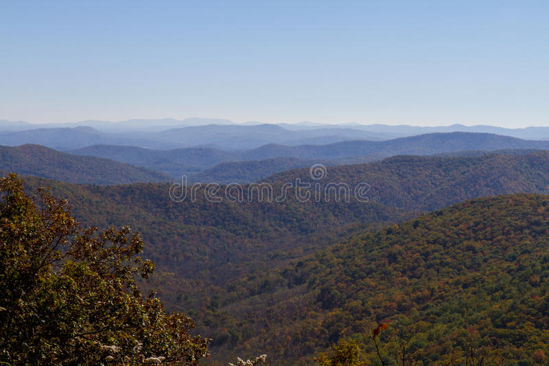 Fall Colors Along the Blue Ridge Parkway, North Carolina royalty free stock photos