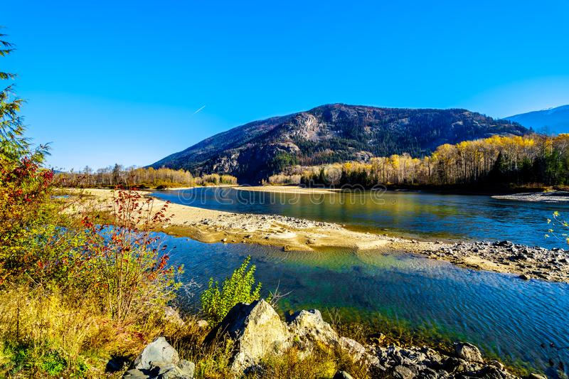 Fall colors around the North Thompson River between Barriere and Clearwater, BC royalty free stock photos