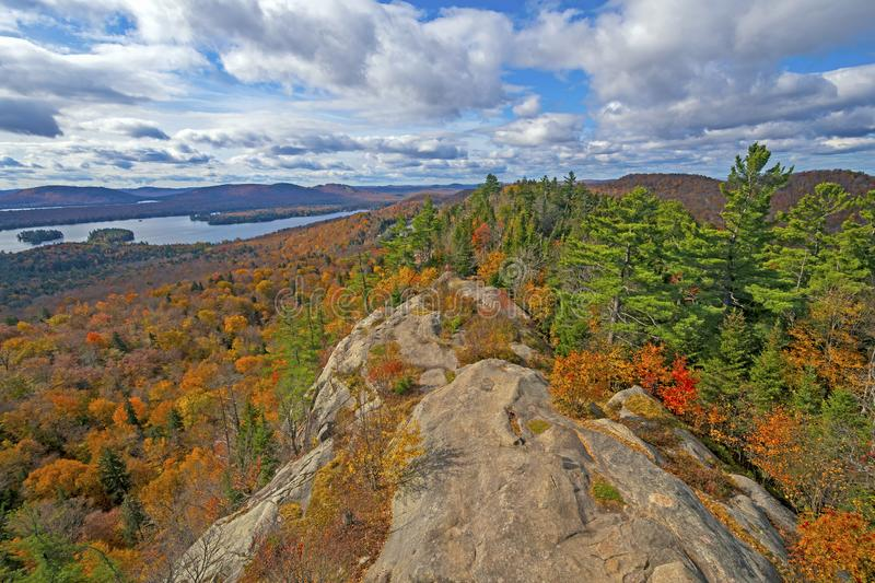 Fall Colors Around a Rocky Bluff royalty free stock photo