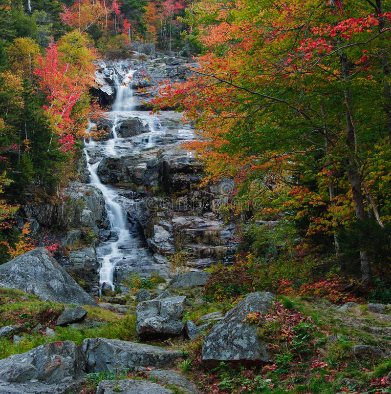Free Fall Colors At The Silver Cascade Royalty Free Stock Images - 23081929