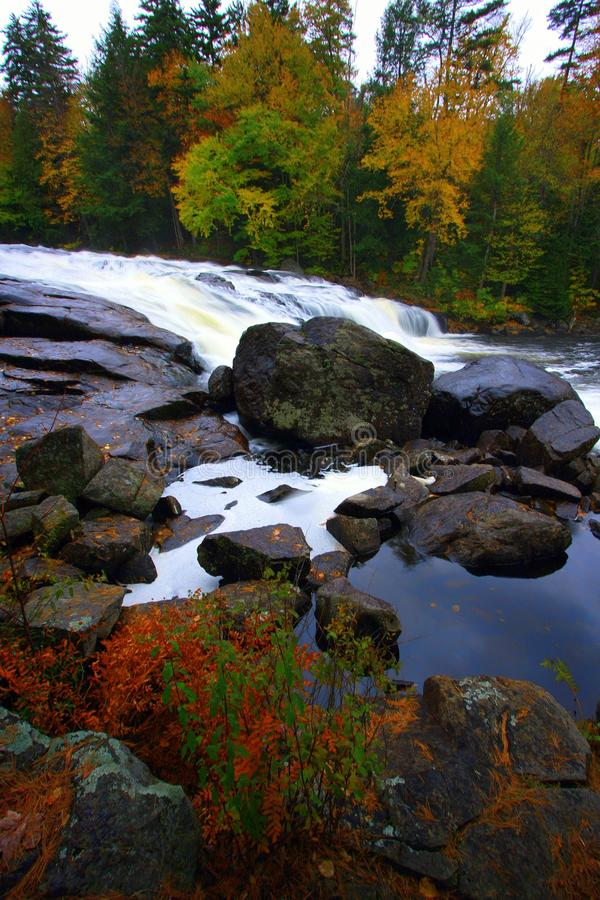 Fall Colors, Buttermilk Falls, NY stock images