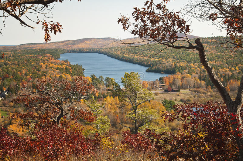 Fall Colors, Copper Harbor, Michigan royalty free stock photography
