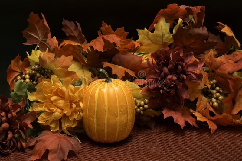 Fall Colors Harvest Season. Leaves have turned color for the fall harvest season marking the end of summer. Fall begins toward the end of November each year stock image