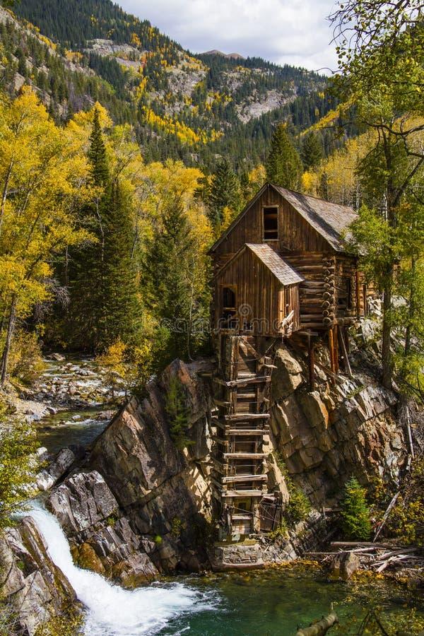 Fall Colors at Historic Crystal Mill royalty free stock photo