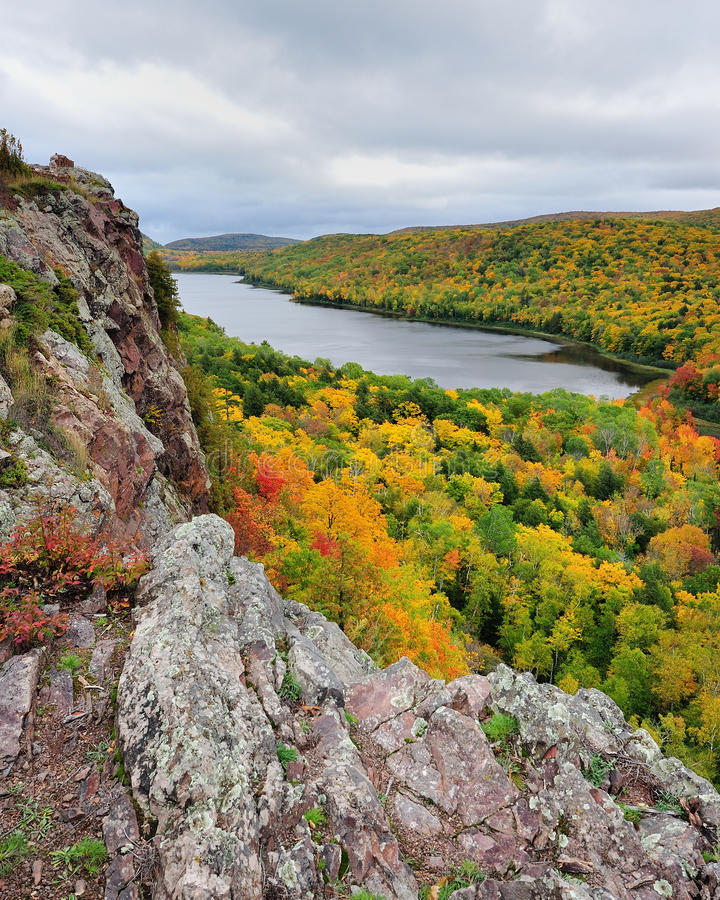 Free Fall Colors, Lake Of The Clouds Michigan USA Royalty Free Stock Photos - 21775808