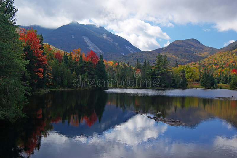 Fall Colors and Mountains stock images