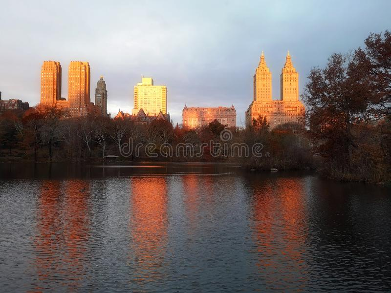 Fall colors in New York City Central Park royalty free stock photo