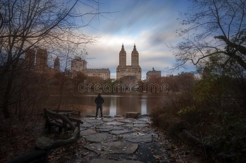Fall colors in New York City Central Park royalty free stock images