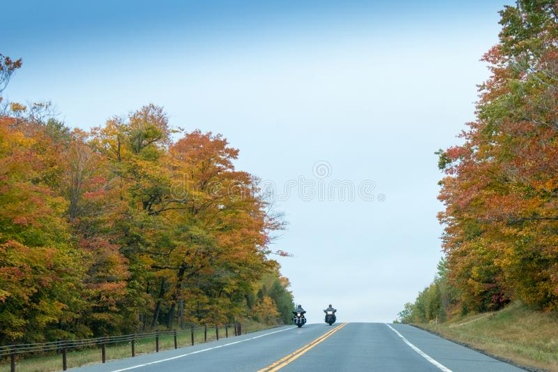 Fall colors in North America stock image