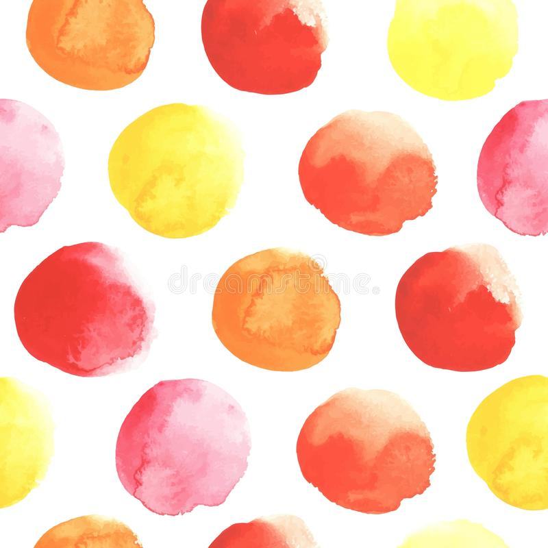 Fall colors. Pattern of watercolor spots in fall colors. All object made in vector. Each one is separately vector illustration