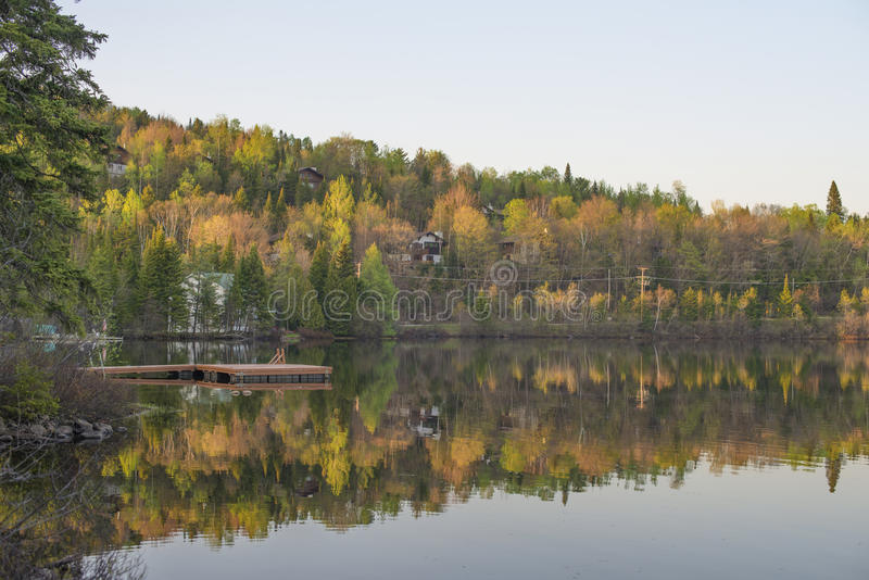 Fall colors reflection stock image
