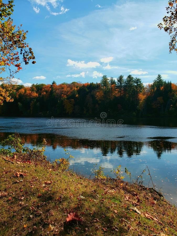 Fall on the Connecticut river royalty free stock photography
