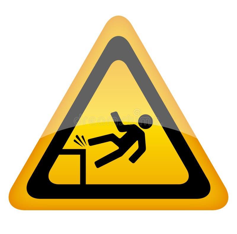 Free Fall Danger Sign Stock Image - 25303751