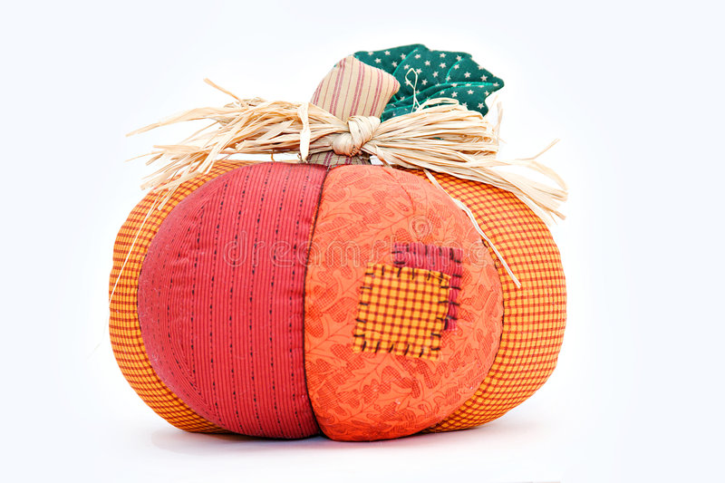 Download Fall Decoration Pumpkin stock photo. Image of fabric, decoration - 7644968