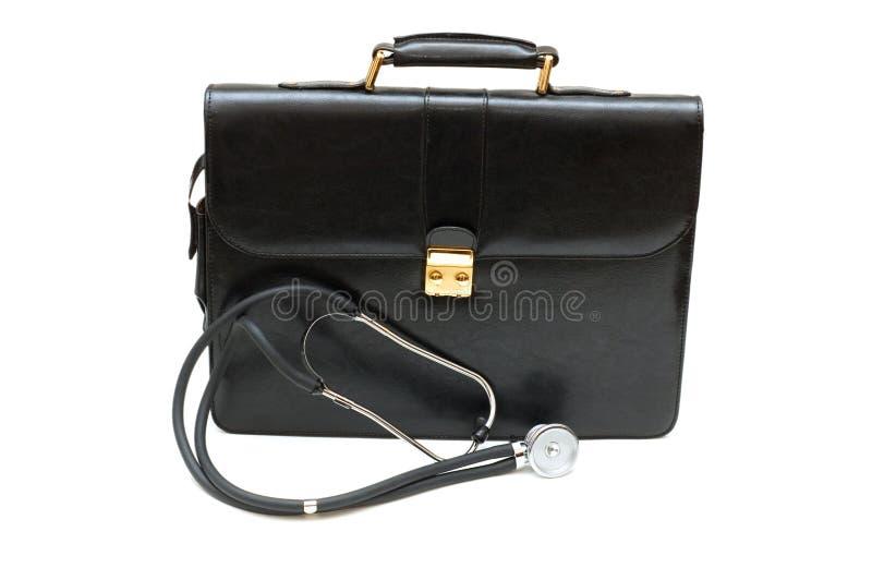Fall der Doktoren mit Stethoskop lizenzfreie stockfotos