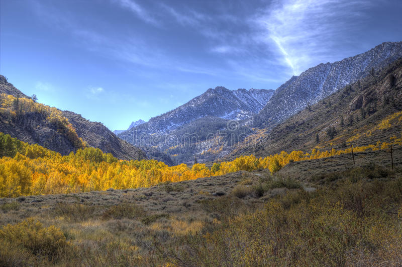 Fall In The Eastern Sierras Royalty Free Stock Images