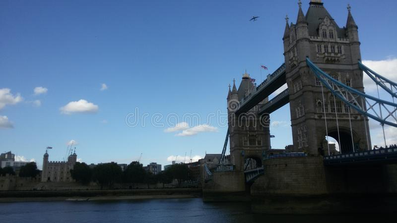 Fall in England - The Tower Bridge - evening royalty free stock image