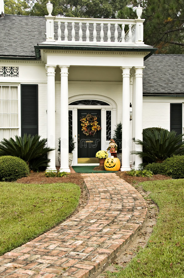 Fall Entryway stock photo